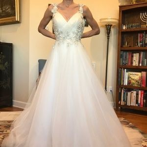 """Maggie Sottero """"Shelby"""" Wedding Gown Blush sz 8"""